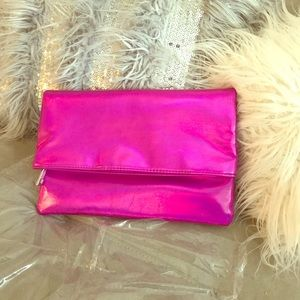 Pink Metallic Clutch